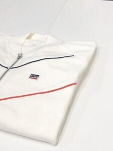 Levi's Sweatshirt Men's Full Zip Retro Bomber Track Top Marshmallow 39874-0002