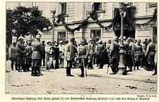 1914/15 Festung Przemysl * Thronfolger &  k.u.k.Offiziere nach dem Einzug *  WW1