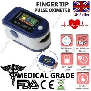 Fingertip Pulse Oximeter Blood Oxygen Saturation SpO2 Finger PR Monitor UK