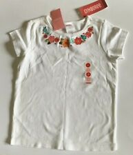 Girls Gymboree White Top T Shirt Size 7 New NWT Flowers 100% Cotton Beautiful !!