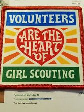 Girl Scout Volunteers Are The Heart Fun Patch Badge New Square Large