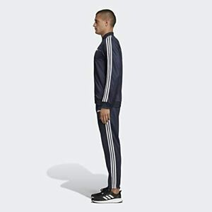 Adidas Mens 3 Stripe Full Track Suit Navy Blue Regular Fit Size Small