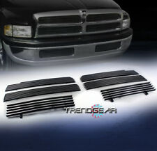 1994-2001 DODGE RAM FRONT UPPER + BUMPER BILLET GRILLE GRILL COMBO 6PCS POLISHED