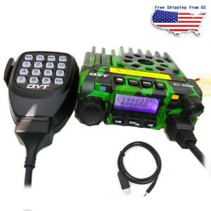 QYT KT8900 Dual Band VHF/UHF Car Mobile Radio Transceiver 25W 200CH + USB Cable