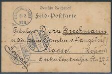 DP China Feldpoststation No. 8 ab Peithaiho 1901 nach Kassel (1770)