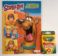 2 Pc Scooby-Doo Gift Set Jumbo Coloring & Activity Book and Crayons Shaggy, Fred