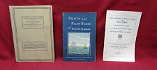 3 book lot-Pilots and Pilot Boats of BH/Rules to prevent Collisions/US Coast Pil