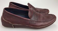 Men's 11.5 M Shoes Cole Haan Air Mitchell Penny Burgundy Leather Loafers C11765