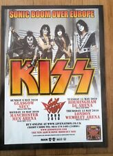 KISS Sonic Boom over Europe 2010 UK magazine ADVERT / mini Poster 11x8 inches
