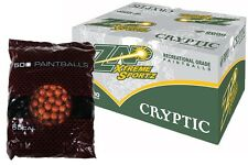 ZAP EXTREME SPORTZ CRYPTIC Paintballs 2000 Rounds - Brown Shell - YELLOW FILL