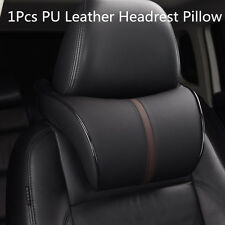1x Ergonomic Seat Headrest Pad Auto Car Neck Rest Memory Foam Pillow PU Leather