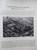 Brauerei Riebeck Leipzig Reudnitz 8 Seiten Historie von 1926 Werbung brewery