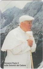 VATICAN no.100 - 2002 == J.P. II Sulle Dolomiti == MINT phonecard
