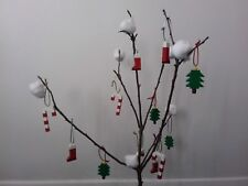 LEGO CHRISTMAS TREE DECORATIONS - SET OF 3 -TREE, CANDY CANE & SANTA'S BOOT -