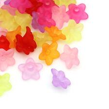 800 Mixte Perles Acrylique Dépolie Fleur 10x4mm