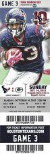 2012 NFL PACKERS @ HOUSTON TEXANS FULL UNUSED FOOTBALL TICKET - RODGERS 6 TDS