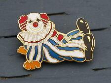 Clumsy Circus Clown Diamond Eyes Bozo Metal & Enamel Lapel Pin Pinback