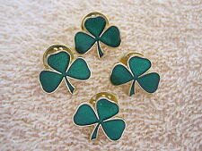 "Lot Of ""4"" Irish Shamrock Lapel Pins Ireland ""IRISH SHAMROCK"" Pin/Badge"
