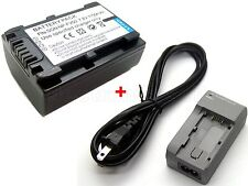 Battery + Charger for NP-FV50 Sony DCR-SX83 DCR-SX85 HDR-CX110 HDR-CX115 DEV-3