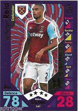 2016 / 2017 EPL Match Attax Base Card (347) Winston REID West Ham United