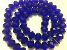 Diy Jewelry Faceted 100pcs 4*6mm Rondelle glass Crystal Beads Blue