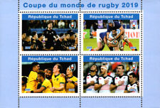 Chad 2019 Rugby Sports 4v Mint Souvenir Sheet S/S. (#38)