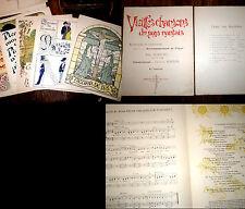 vieilles chansons du pays nantais 1er fasc. 8 partitions piano chant 1904