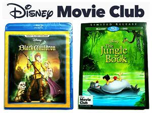 2 Disney Movie Club BLU-RAY The Black Cauldron & The Jungle Book Region Free NEW
