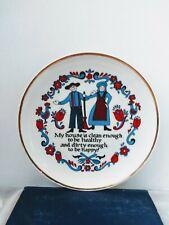 Decorative Vintage Norcrest Collectible Hanging Plate Man Woman Clean House