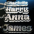 Personalised FROZEN KEYRING KEYCHAIN GIFT ANY NAME SCHOOL BAG TAG WORD TEACHER