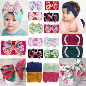 Cute Baby Girls Toddler Newborn Big Headband Headwear Hair Bow Accessories 2021