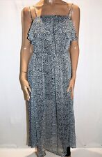 LILY WHYT Brand Women's Grey Animal Print Chiffon Maxi Dress Size 8 BNWT #TO83