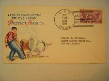 US Patriotic Cover - 1941 Protect America - USS Eberle