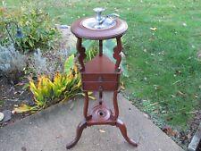 Vintage Mahogany Wash / Plant Stand Colonial Revival Circa 1900-1950 Restored