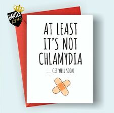 G7 GET WELL FEEL BETTER SOON GREETING CARD FUNNY CUTE CHEEKY HUMOUR LOVE