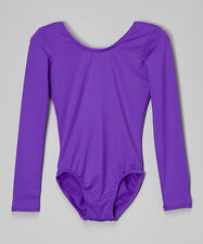 Mondor 497 Violet Purple Child Size Small (4-7) Long Sleeve Leotard