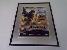 Frontlines Fuel of War 2008 Framed 11x14 ORIGINAL Vintage Advertisement