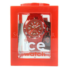 NEW Ice 102128 Solid Red Silicone Unisex Watch NO BOX