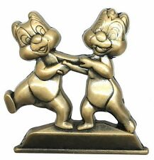 2016 Disney WDW Annual Passholder Gold Statue Chip and Dale Pin Rare W9
