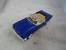1964 1/2 Ford Mustang Convertible 289 1:24 Scale Diecast Blue SS7711