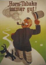 Original Plakat - Horn-Tabake - immer gut!
