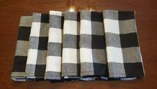Set of 6 Black and White Checkered Napkins