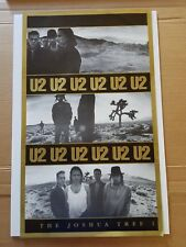 "U2 Joshua Tree poster original rare excellent condition 21.5"" x 37"""
