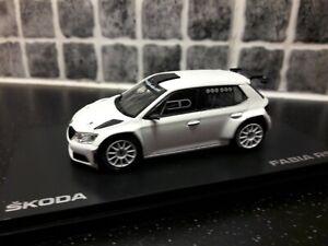 Skoda Fabia R5 test car tarmac spec 1/43rd scale Abrex diecast model for Code 3
