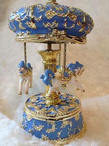music carousel Led light blue for boy Babyshower Newborn birthday christmas gift