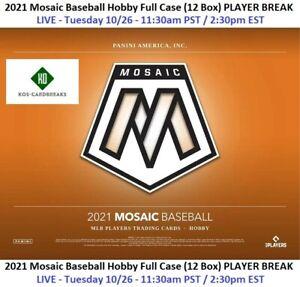 Shohei Ohtani 2021 Mosaic Hobby FULL CASE 12 Box PLAYER BREAK