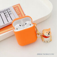 Cute Shiba Inu Dog Toy Case Airpods Silicone Cover for Apple Bluetooth Earphone