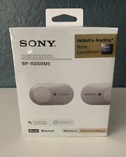 NIB Sony WF-1000XM3 True Wireless Bluetooth Noise-Canceling Headphones, Silver