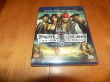 PIRATES OF THE CARIBBEAN ON STRANGER TIDES LIMITED 3D EDITION BLU-RAY DVD SEALED
