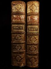 1720 1st ed Robinson Crusoe Daniel Defoe Voyages Illustrated Shipwreck 2v French